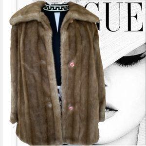 Vintage 60s 70s Faux Fur Tissavel France Large XLG